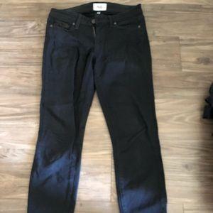 Paige black crop jeans size 27